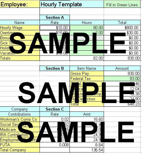 payroll sheet example