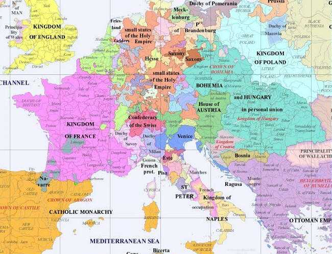 Central Europe - Year 1500
